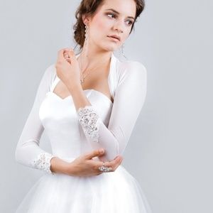 Bridal jacket shrug bolero